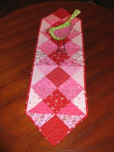 Quilted Valentinesl Table Runner by GoodMorningBigFluffy on Etsy