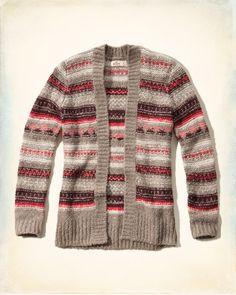 Girls Patterned Open Sweater   Girls Tops   HollisterCo.com