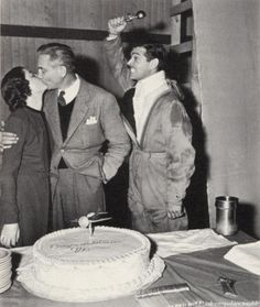 Myrna Loy, Victor Fleming and Clark Gable