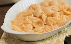 Yield :     Makes 4 servings    Ingredients :     1/2 pound cooked pasta of choice (we used small shells)   2 cups shredded cheddar cheese   1 cup whole milk   3/4 teaspoon kosher salt   1/2 teaspoon freshly ground black pepper    Preparation