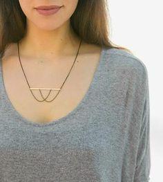 Chiasmus Bar & Layered Chain Necklace