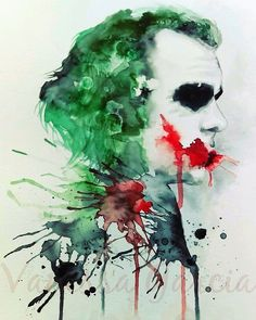"""This is my joker painting that i commissioned for a friend, its her boyfriends birthday on Halloween and she had asked me to make her, and i quote, """"A bomb ass joker painting""""."""
