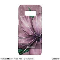 Textured Mauve Floral Name Case-Mate Samsung Galaxy Case Galaxy S8, Samsung Galaxy, Electronics Accessories, Mauve, Custom Design, Gadgets, Lily, Names, Texture