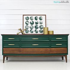 Furniture Design Ideas featuring custom color mixes from our customers. Green Painted Furniture, Refurbished Furniture, Paint Furniture, Repurposed Furniture, Furniture Projects, Furniture Makeover, Home Furniture, Furniture Stores, Furniture Plans