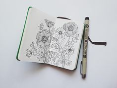 little sketchbook. I actually have this same book and pen.