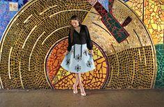 starburst embellished sparkle skirt