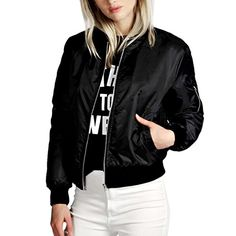 Cheap slim bomber jacket, Buy Quality bomber jacket directly from China jacket style Suppliers: 2016 European Style Womens Retro Long Sleeve O-Neck Short Zipper Slim Bomber Jacket Casual Coat Pilot Bomber Jackets Black Bomber Jacket, Leather Jacket, Pu Jacket, Hiking Jacket, Bomber Coat, Cotton Jacket, Green Jacket, Bomber Negra, Leather Jackets