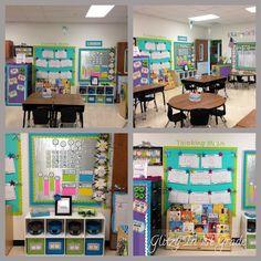 shelf by door...Glitzy In 1st Grade: Classroom Decor