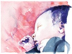 'Newborn' by Julia Prusi Illustration Art, Illustrations, Disney Characters, Fictional Characters, My Arts, Sketches, Watercolor, Portrait, Disney Princess