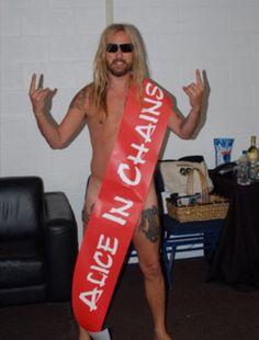 Celebrating in style in his birthday suit. Mike Inez, Mike Starr, Mike And Mike, Jerry Cantrell, Mad Season, Temple Of The Dog, Layne Staley, Happy 50th Birthday, Alice In Chains