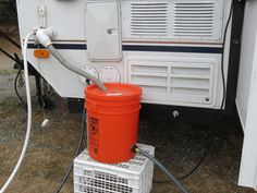 How to connect a PUP sink to sewer drainage. Van Camping, Camping Glamping, Camping Life, Rv Life, Trailer Tent, Trailer Storage, Camper Trailers, A Frame Camper, Popup Camper