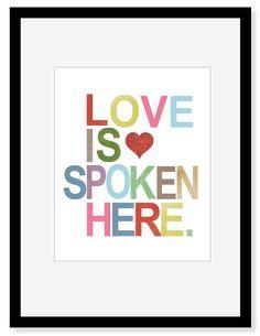 Love Is Spoken Here