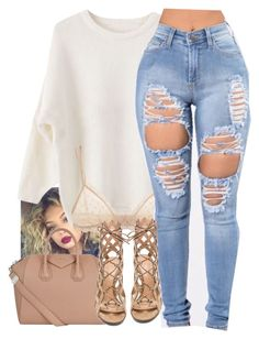 """untitled #121"" by yani122 ❤ liked on Polyvore featuring Eberjey, Givenchy and Gianvito Rossi"