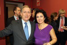 Cena en el Restaurante La Peña, organizada por Rafael Cabarcos para un Grupo de Recursos Humanos. En la foto con Carolina Caparros. 14 Diciembre 2012