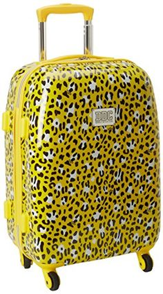 Double Dutch Club Wild Animal 20 Inch Hardside Yellow Leopard One Size -- Click image to review more details.