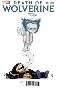 Cover for Death of Wolverine (2014 series) #1 [Skottie Young Marvel Babies Variant] - I love the Marvel Babies covers!