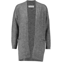 By Malene Birger Dissania mohair-blend cardigan (145,055 KRW) ❤ liked on Polyvore featuring tops, cardigans, grey, loose cardigan, petite tops, gray cardigan, oversized tops and open front cardigan