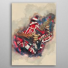 Eddie Van Halen Guitar Pop Art Poster Print | metal posters - Displate