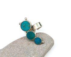 gift for people you love teardrop Cabochon genuine eilat stone green gemstone Rare gemstone