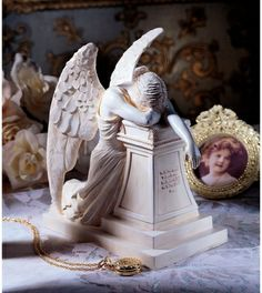 Charmant Angel Of Grief Monument Statue After The 1894 Original By William Wetmore  Story, In The