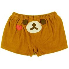 VOBAGA® Womens San-x Rilakkuma Lounge Pant Sleep Shorts Sleepwear One... ($6.39) ❤ liked on Polyvore featuring intimates, sleepwear and pajamas
