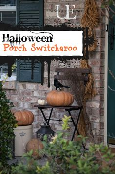 Halloween Porch Switcharoo at Unexpected Elegance. Find some quick and easy decor options for your front porch!