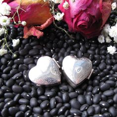 ❥ Sterling Silver Heart Pill Box on Etsy