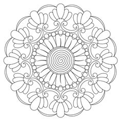 tuscan block 014 Providing Digital Quilting Patterns for Computer Assisted Long Arm and Short Arm Quilting Machines, since Free Adult Coloring Pages, Mandala Coloring Pages, Colouring Pages, Coloring Books, Free Coloring, Mandala Doodle, Mandala Drawing, Mandala Art, Doodle Doodle