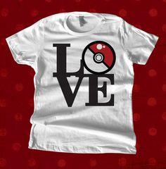 Pokemon Love T Shirt by teesquare on Etsy, $17.99
