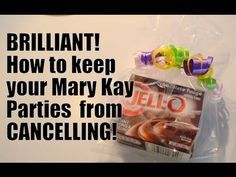 Here's How to Keep your Mary Kay Parties from CANCELLING!!