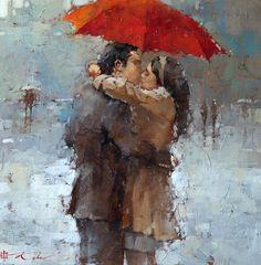 """Imagens que falam...Textos que calam...    """"Ame como a chuva fina.  Esta cai em silencio,quase sem fazer notar,mas é capaz de transbordar rios.""""    Paulo Coelho"""