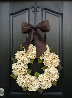 Hydrangea WreathsWedding Decor Wedding Wreaths by twoinspireyou