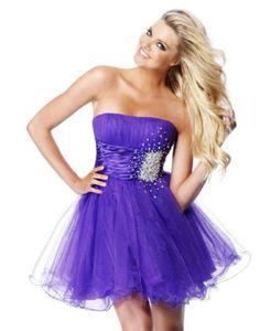 Bridesmaid dress in dark purple