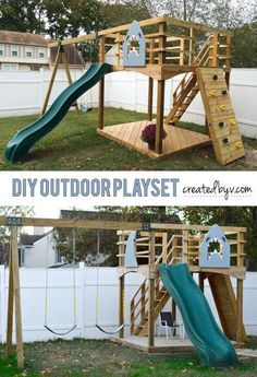 Because kids thrive when they play outdoors... built to our specifications for a LOT less than a pre-fab set.