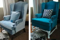 Young House Love | Adventures In Painting An Upholstered Chair (Yes Painting It!) | http://www.younghouselove.com
