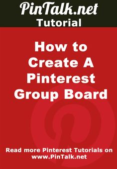 How to Create A Pinterest Group Board. Tutorial How to Create A #Pinterest Group Board  via @PinTalk