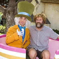 """Megamind"" star Will Ferrell looks downright grumpy sitting in a tea cup with the Mad Hatter at Disneyland. Disney Junior, Disney Fun, Disney Parks, Disney Pixar, Disney Characters, Vintage Disneyland, Disneyland California, Disney California Adventure, American Idol Judges"