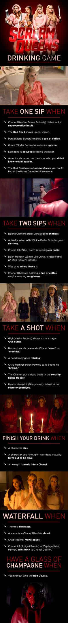 """This Is The Scary Good """"Scream Queens"""" Drinking Game You Need   OMG YES"""