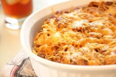 John Wayne Casserole | Ground beef, cheese, cream of chicken soup, salsa... Such a delicious ground beef casserole recipe!