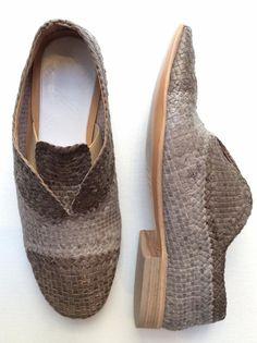 shoes by Martin Margiela richelieu cuir veau tressée 100% semelle cuir cousu 100% ref.S37WQ0165 color.beige 001 Réf. MAR-BAS-H-88199