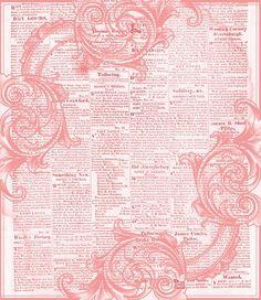 pink newsprint