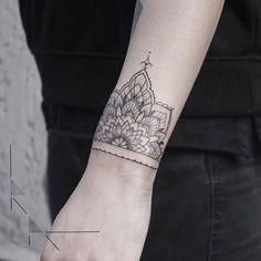 Tattoo Filter — Half mandala on the wrist by Rachainsworth. Tattoo...