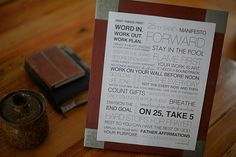 """25 Point Sanity Manifesto by Ann Voskamp. """"#1 Word in. Work out. Work plan. Open your eyes every morning and do three first. Word in: Get into God's word and let it get into you..."""""""