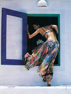 "80s-90s-supermodels: ""Bleu Outremer"", GLAMOUR France, July 1993Photographer…"