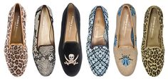 Lady loafers in black, leopard print, or camel