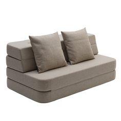 by KlipKlap   KK 3 Fold Sofa   Den funktionelle foldesofa Beige Sofa, Oeko Tex 100, Kidsroom, Hygge, Couch, Interior Design, Furniture, Home Decor, Knapper