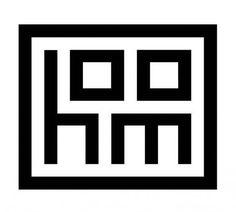 Hoom - logo for dutch interior design company    This is too good...