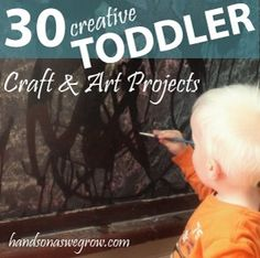 Art projects and crafts that are perfect for the tough toddler age. 30 craft and art activities that a toddler will love. How have you gotten creative with your toddler?