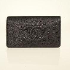 CHANEL Timeless Bifold NEW Black Classic Caviar Elegant Stylish Leather Wallet