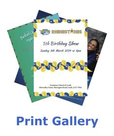 Grammar School, Leeds, 5th Birthday, Booklet, Printing, Poster, Collection, Posters, Billboard